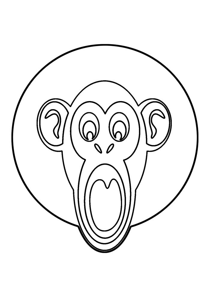 monkey coloring page 50