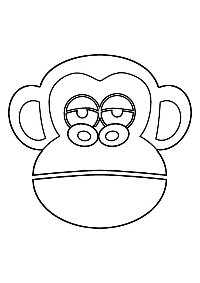 monkey coloring page 9