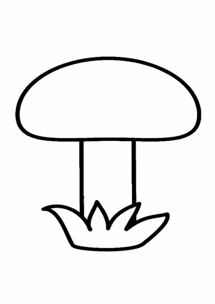mushroom coloring page for kids