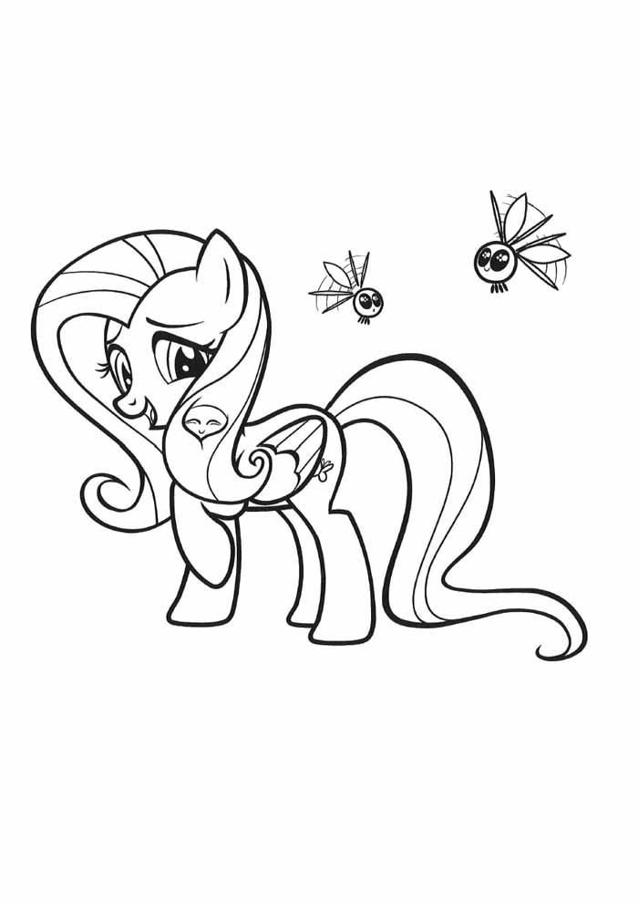 my little pony coloring page and bees