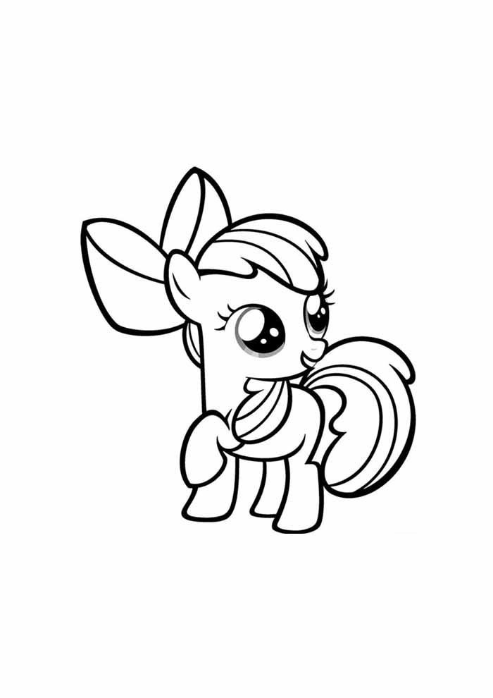 my little pony coloring page baby