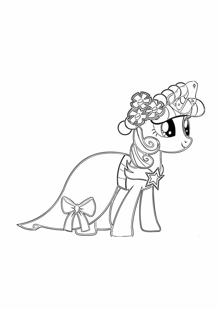 my little pony coloring page bride