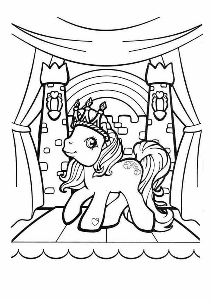 my little pony coloring page castle
