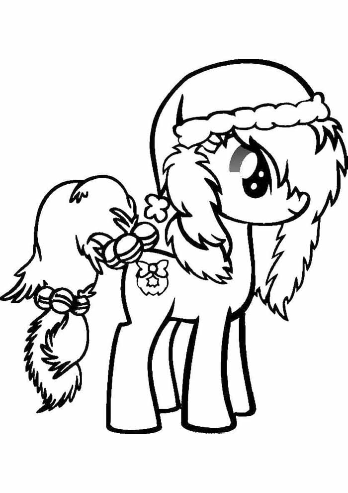my little pony coloring page christmas
