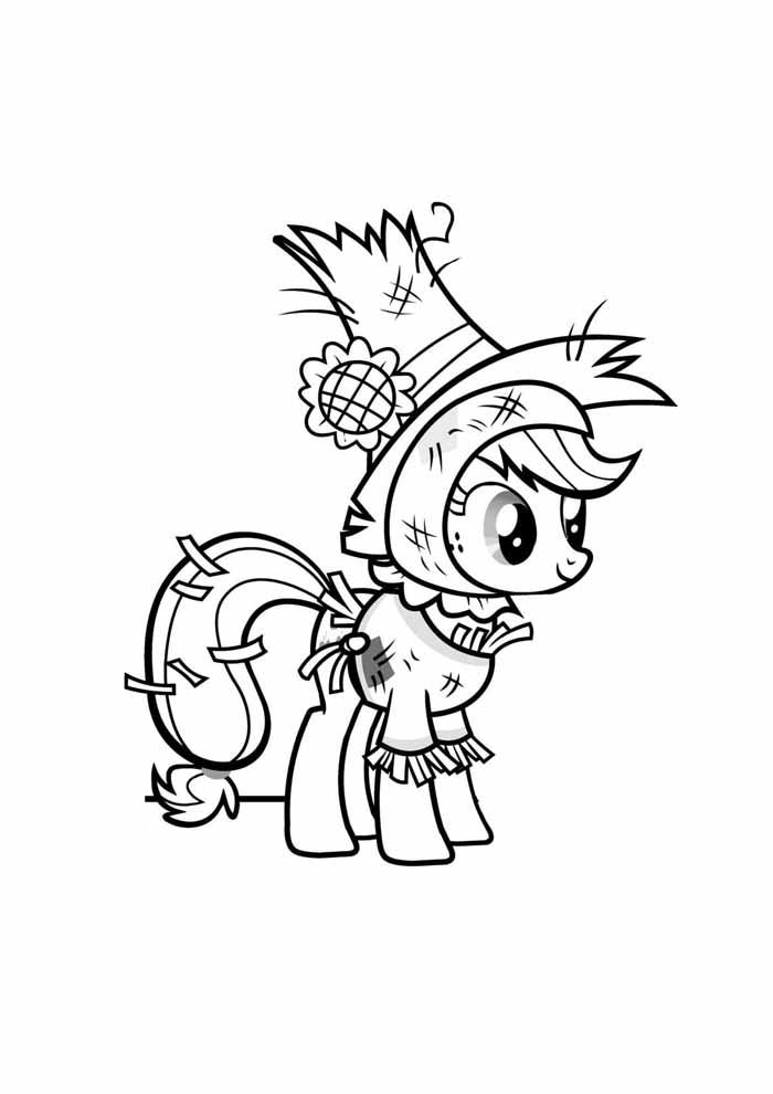 my little pony coloring page cowboy