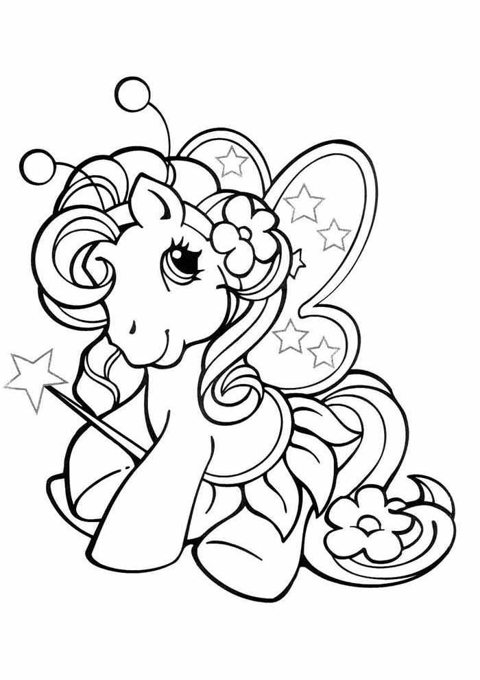 my little pony coloring page cute