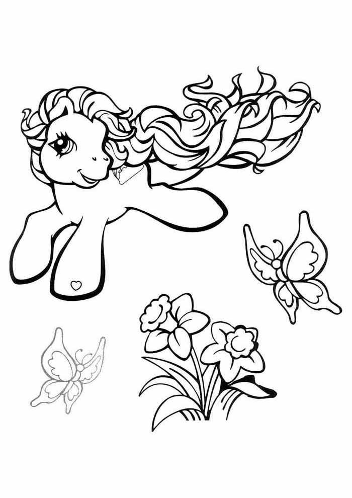 my little pony coloring page flowers