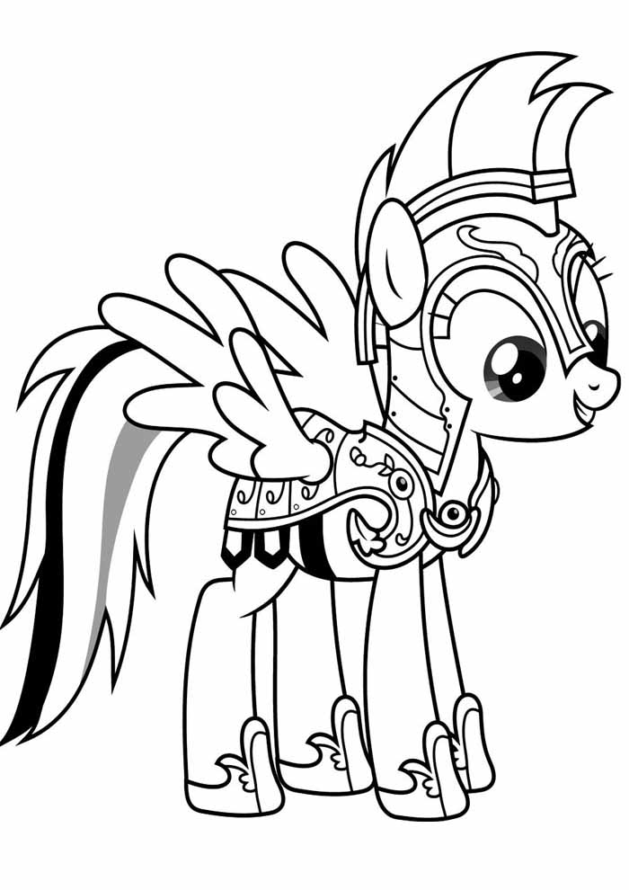 my little pony coloring page gladiator