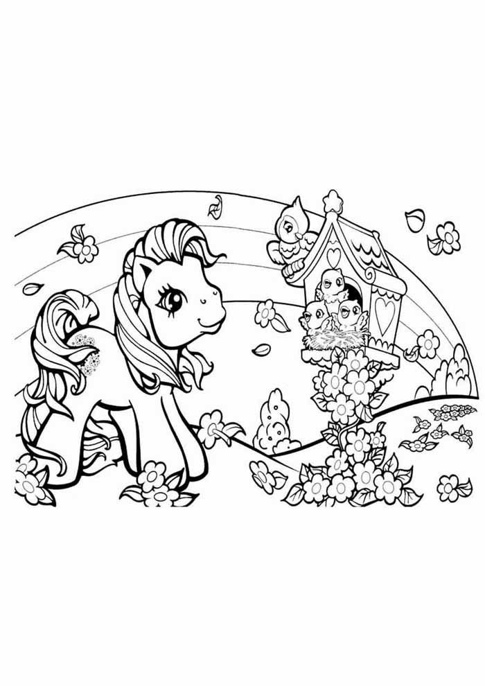 my little pony coloring page house