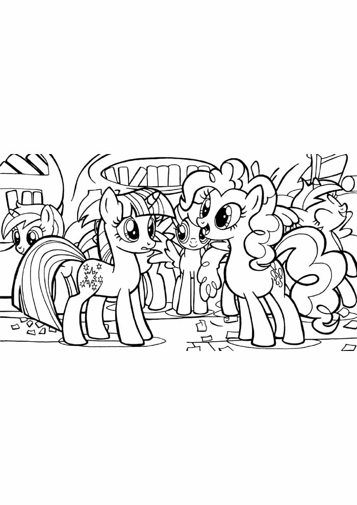my little pony coloring page party