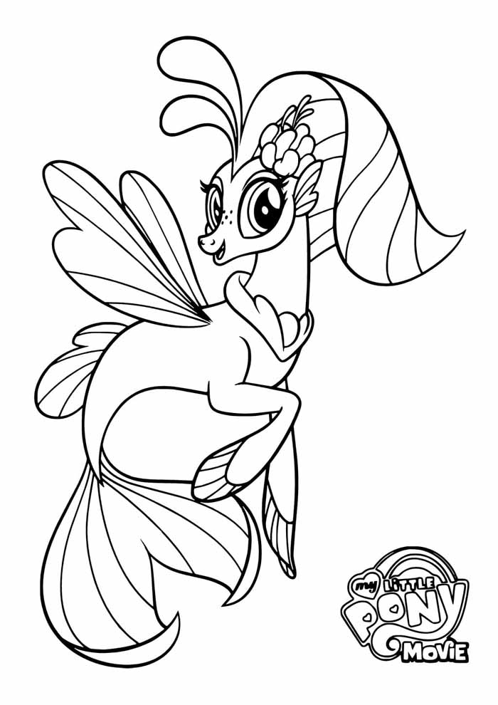 my little pony coloring page queen