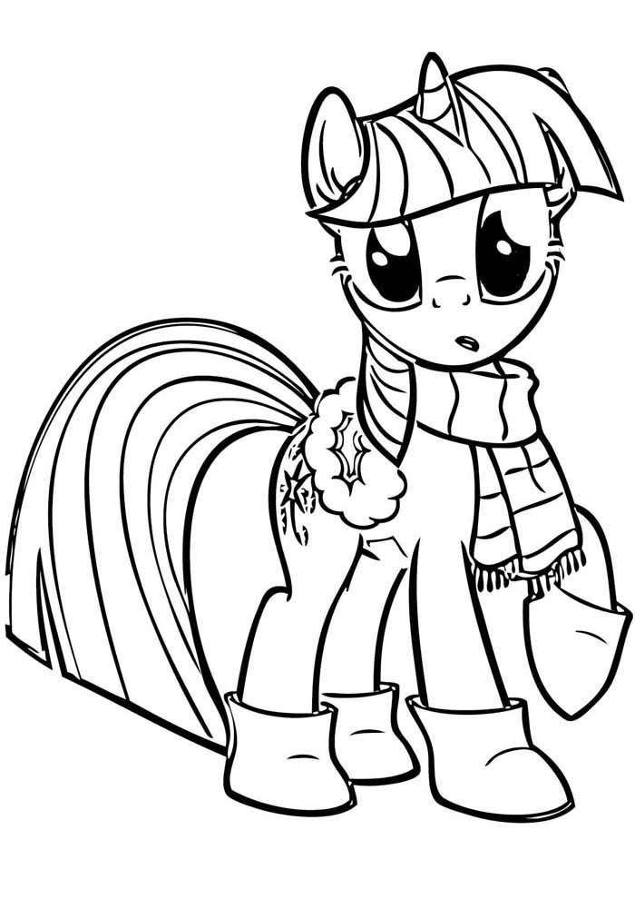 my little pony coloring page winter