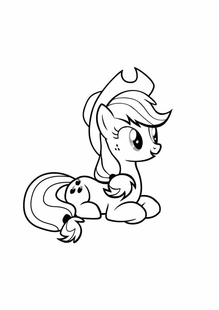 my little pony cowgirl coloring page