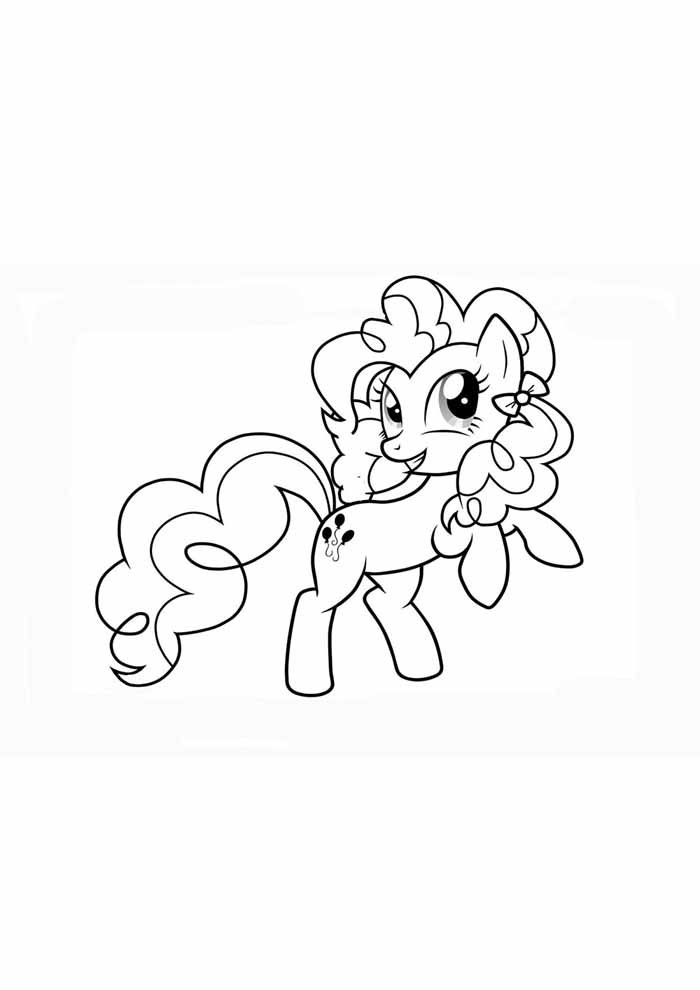 my little pony jumping coloring page