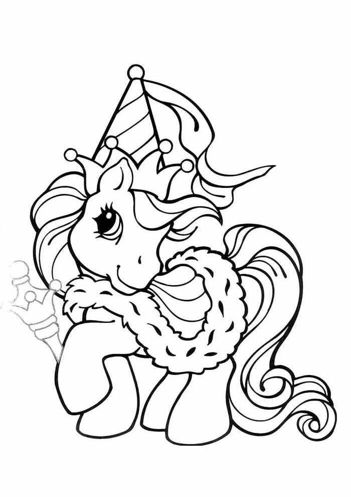 my little pony king coloring page