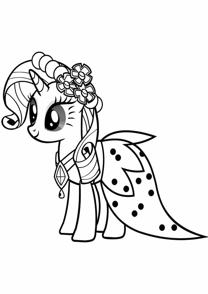 my little pony princess coloring page