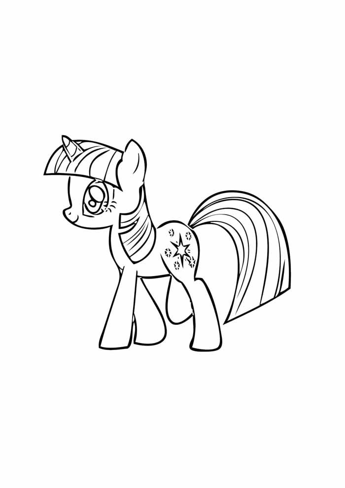 my little pony walking coloring page