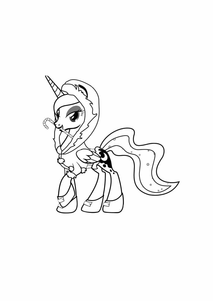 my little unicorn pony coloring page