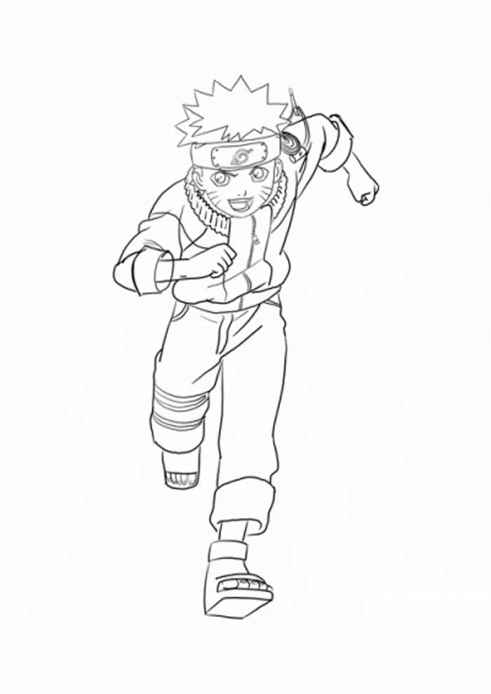 naruto anime coloring page