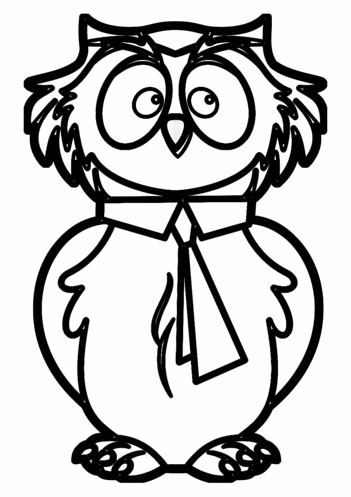 owl coloring page 1