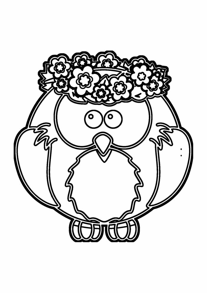 owl coloring page 13