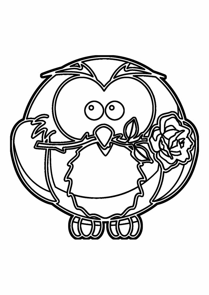 owl coloring page 14