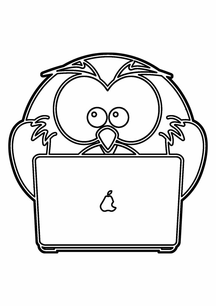 owl coloring page 16