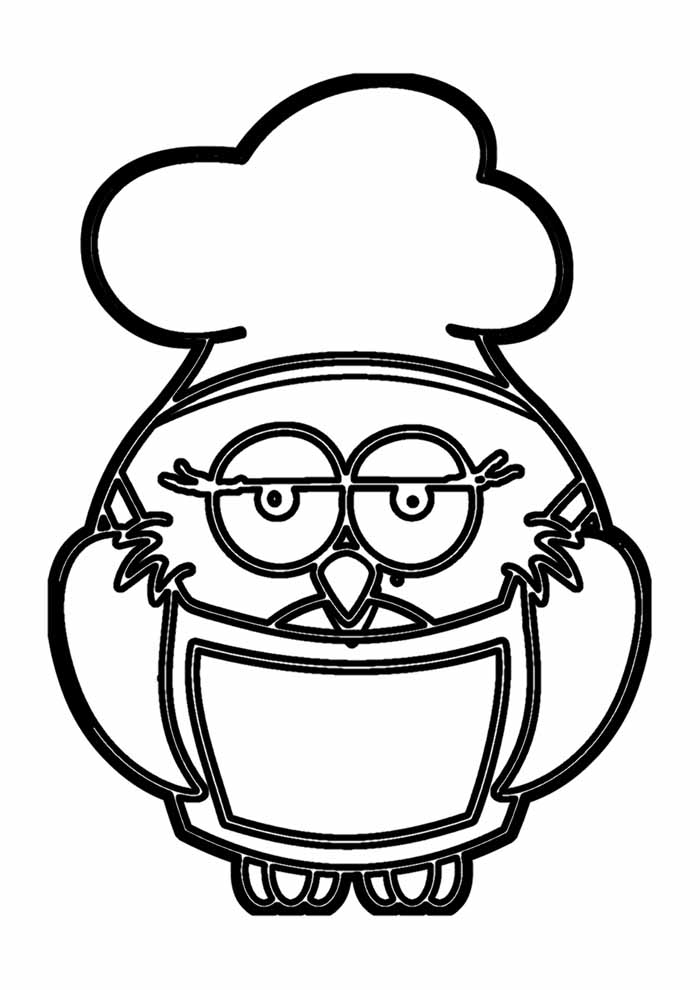 owl coloring page 18