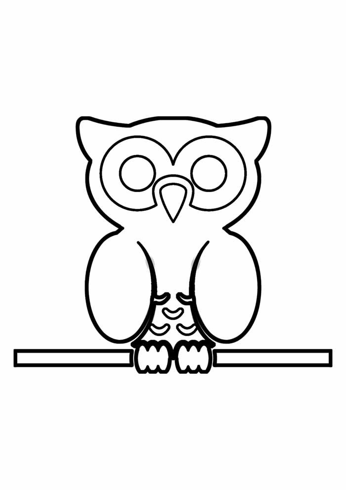 owl coloring page 19