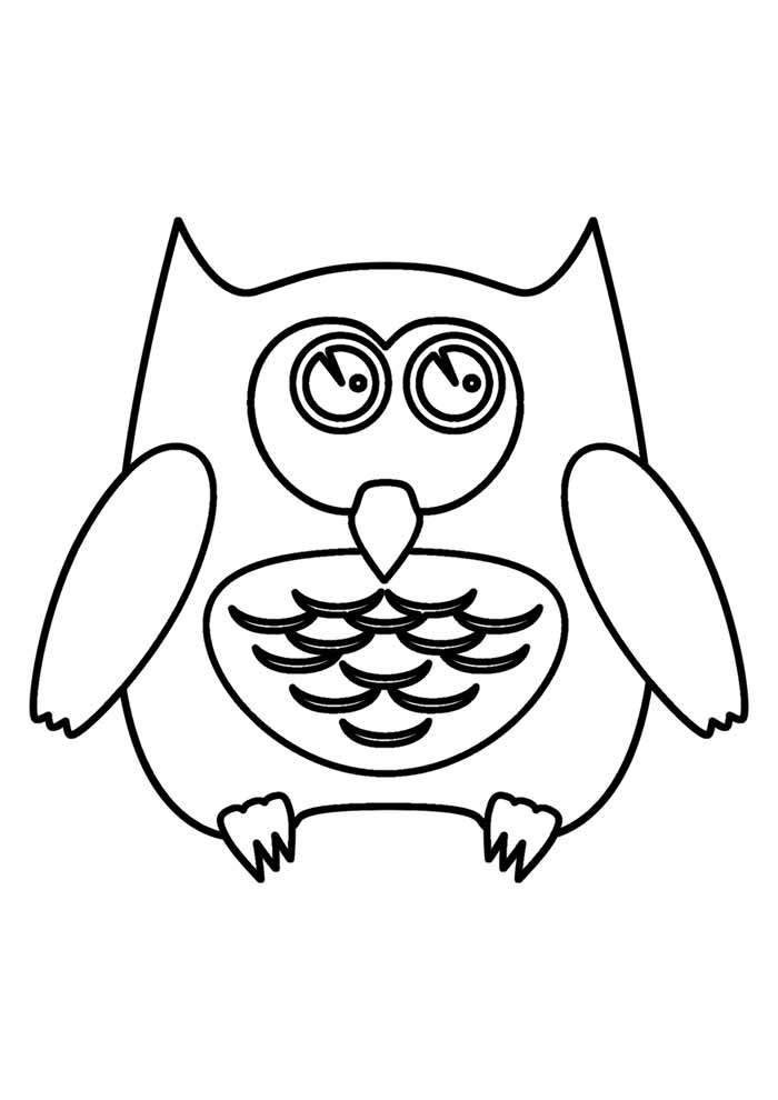 owl coloring page 23