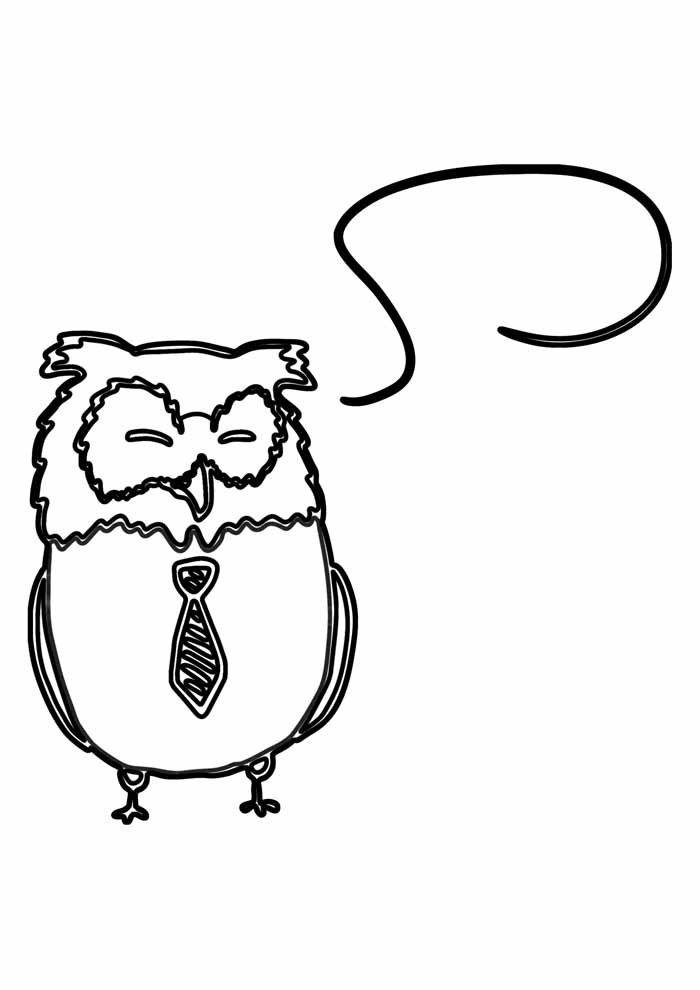 owl coloring page 25