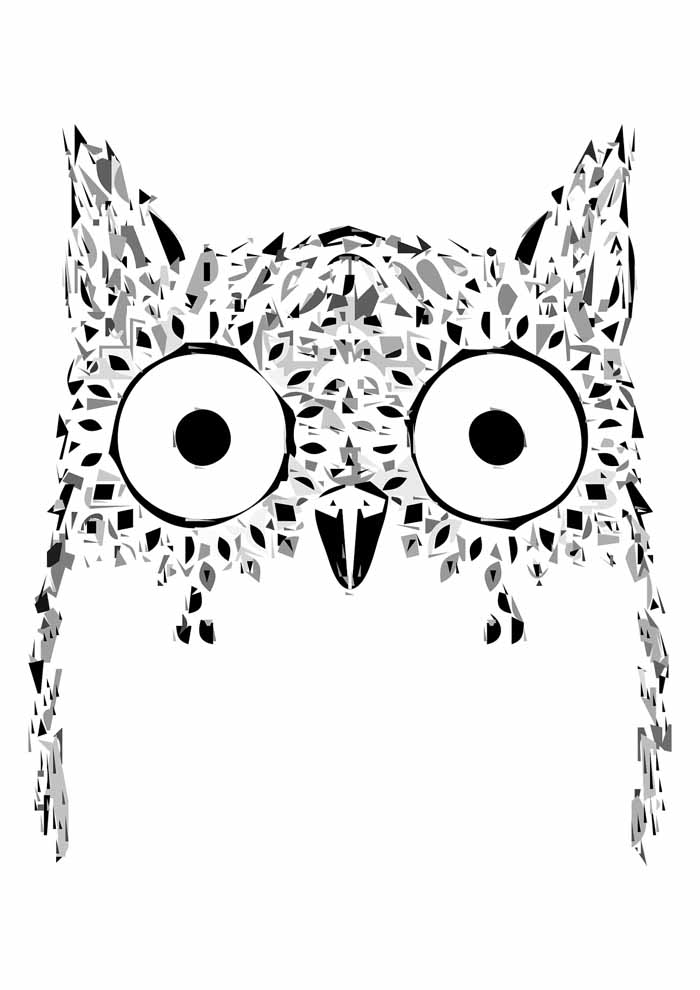 owl coloring page 34