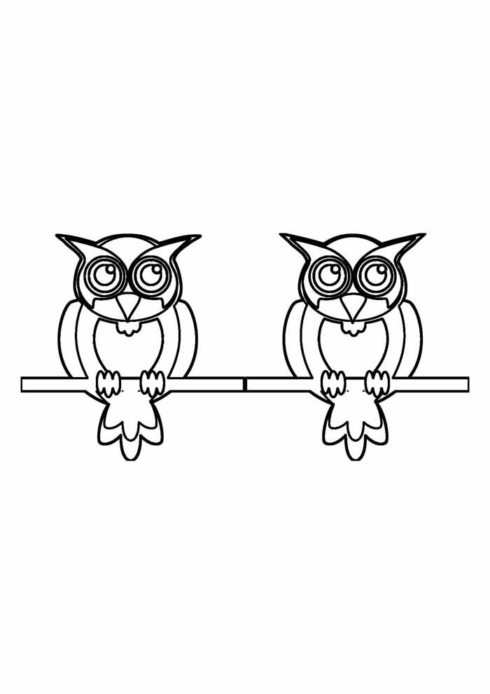 owl coloring page 35