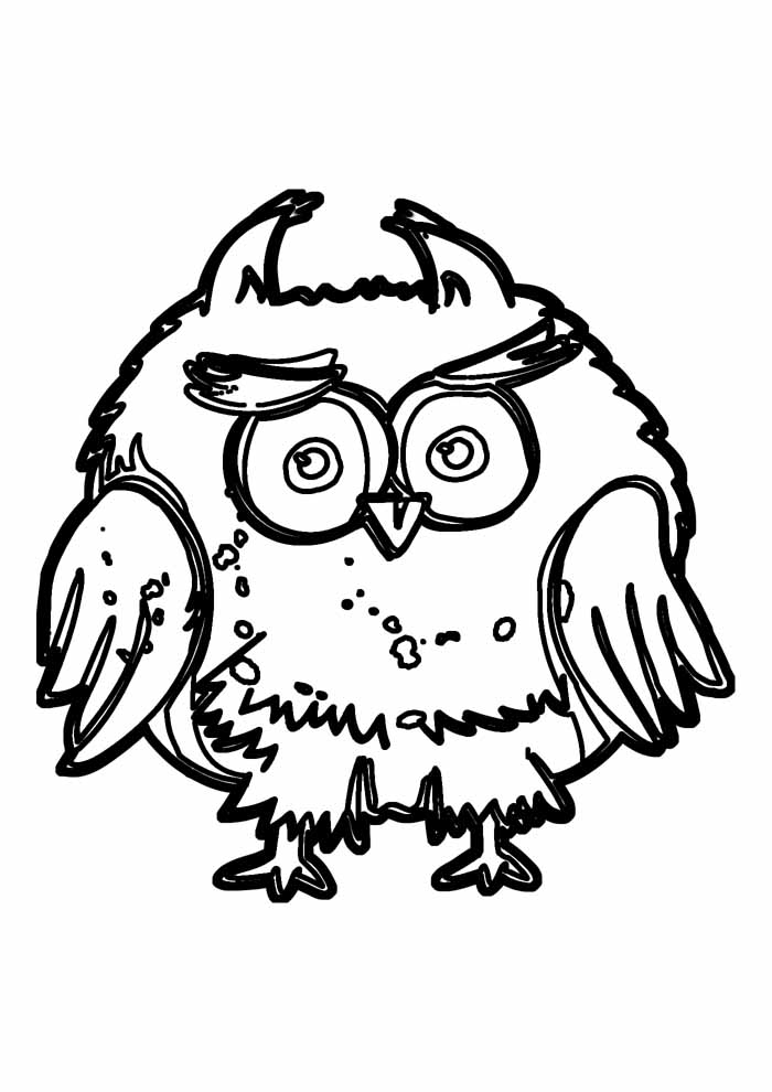 owl coloring page 37