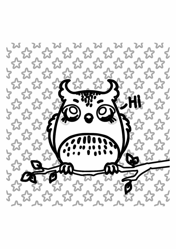 owl coloring page 38
