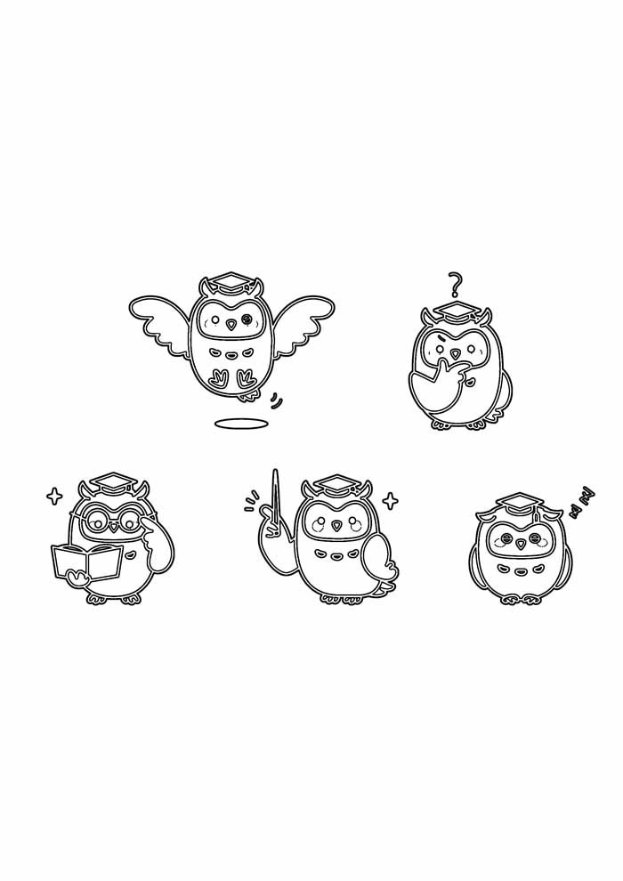 owl coloring page 39