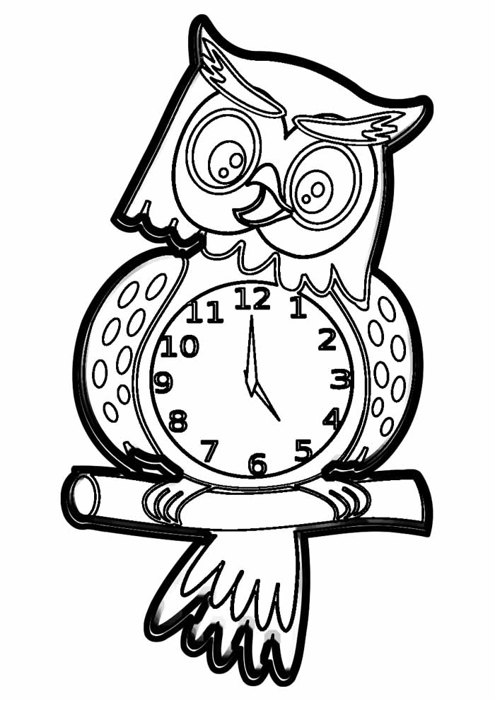 owl coloring page 7