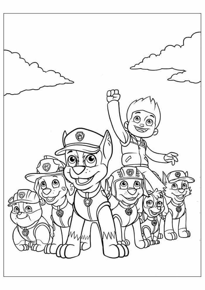 paw patrol para colorear 41