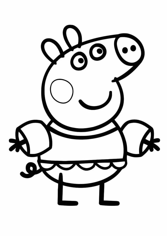 peppa pig coloring page 1