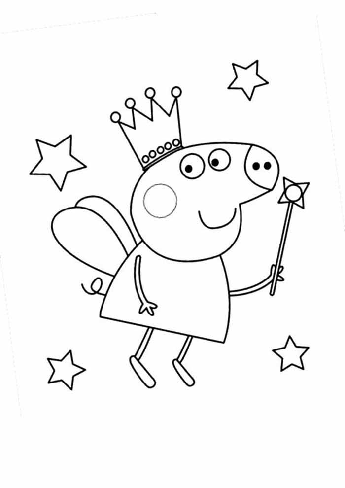 peppa pig coloring page 10