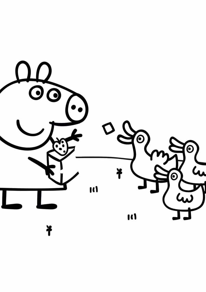 peppa pig coloring page 11
