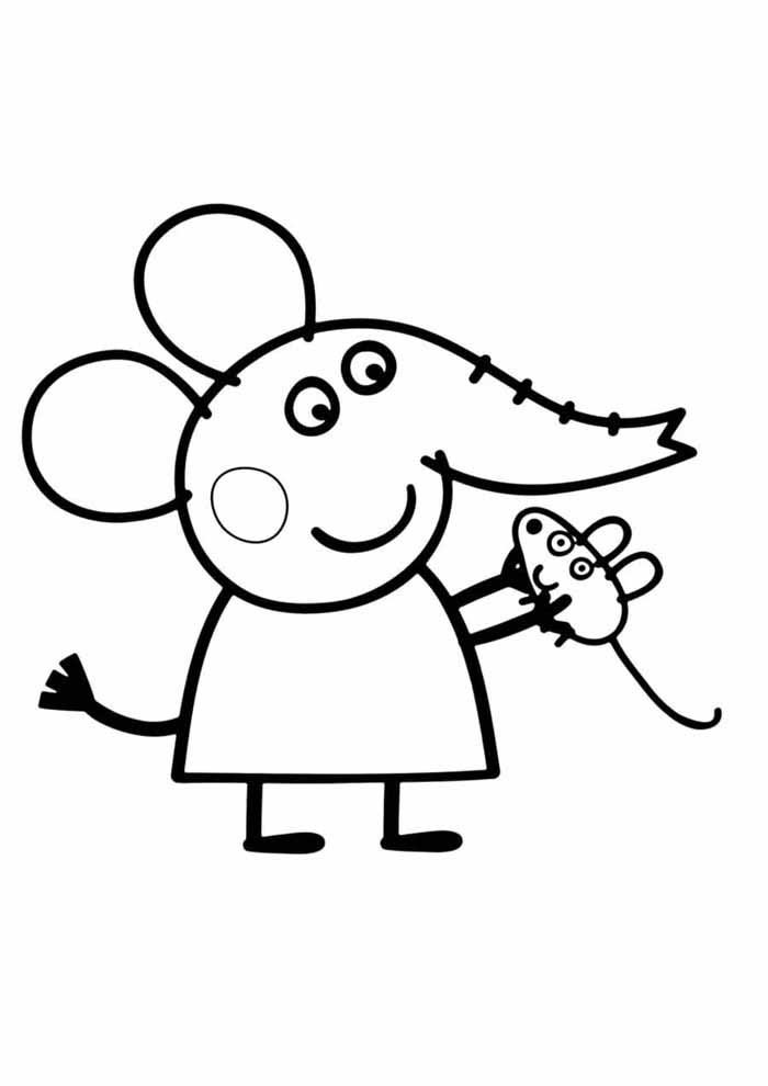 peppa pig coloring page 12