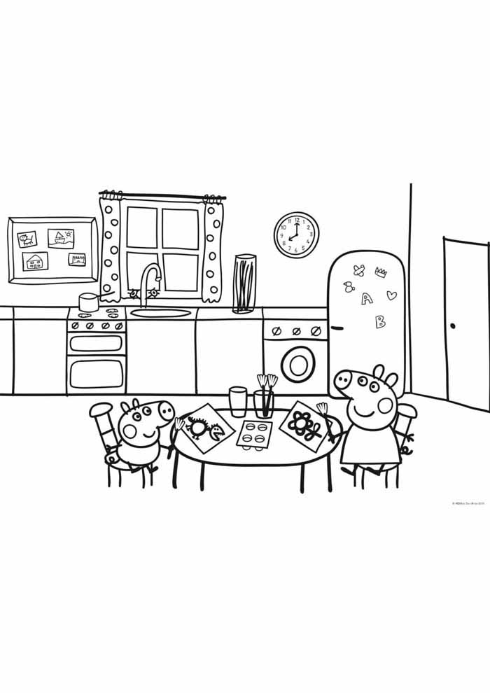 peppa pig coloring page 13