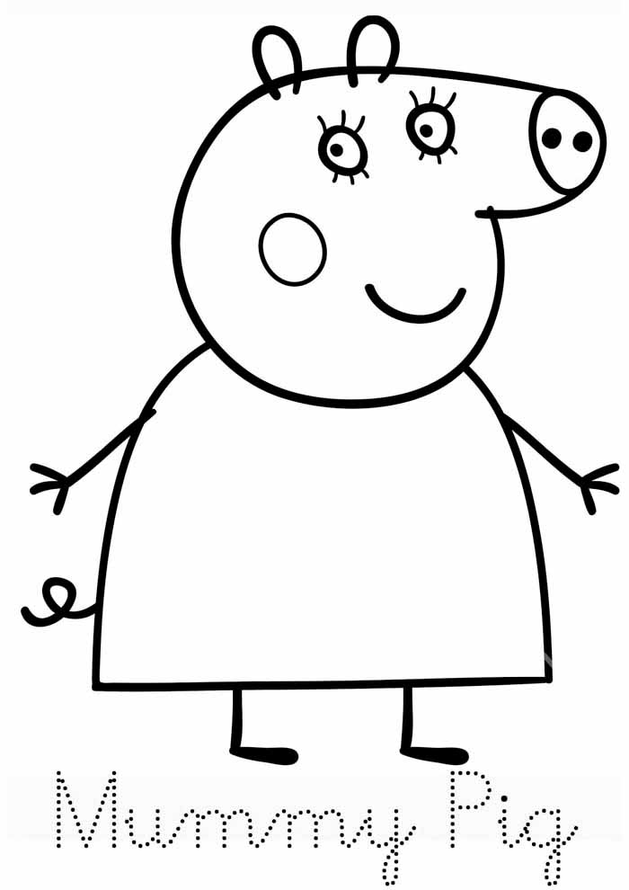 peppa pig coloring page 2