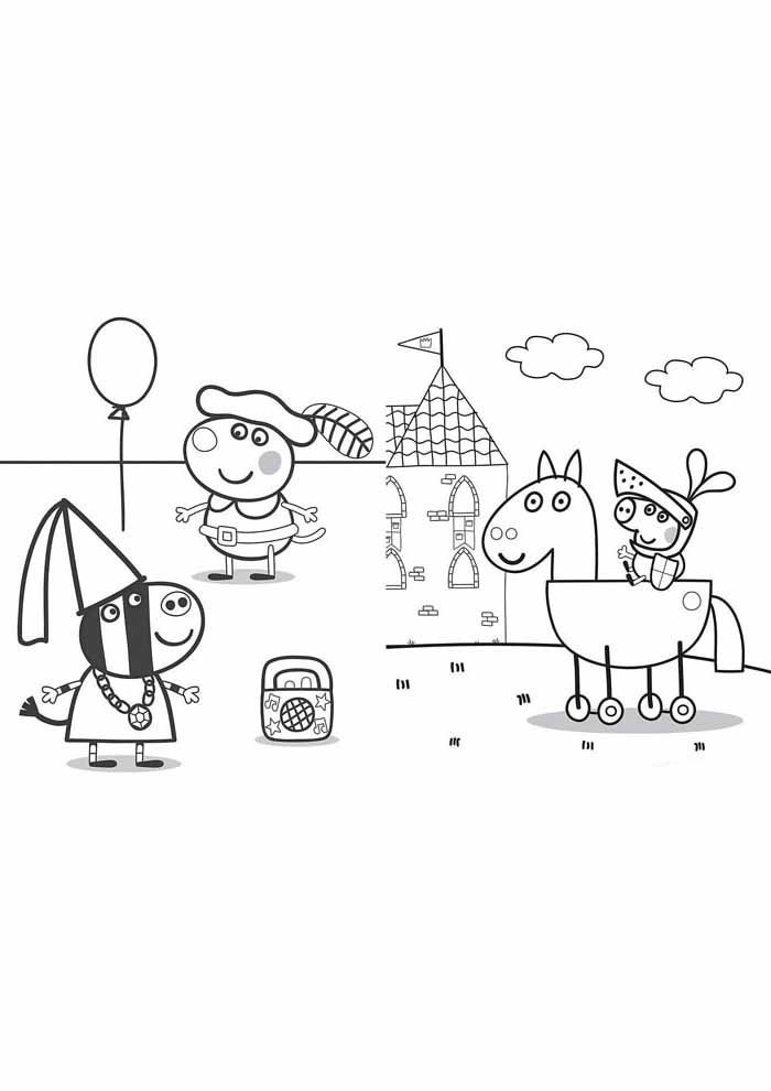 peppa pig coloring page 4