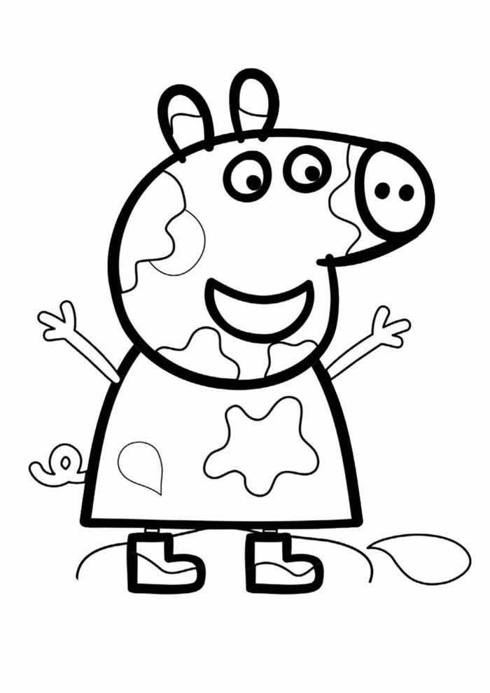 peppa pig coloring page 6