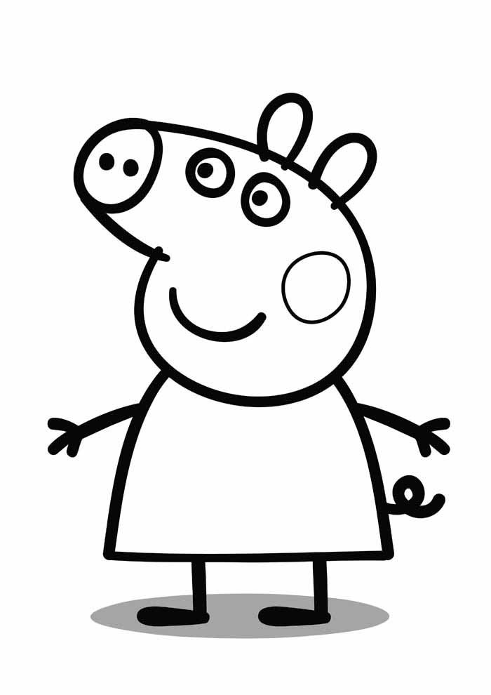 peppa pig coloring page 7