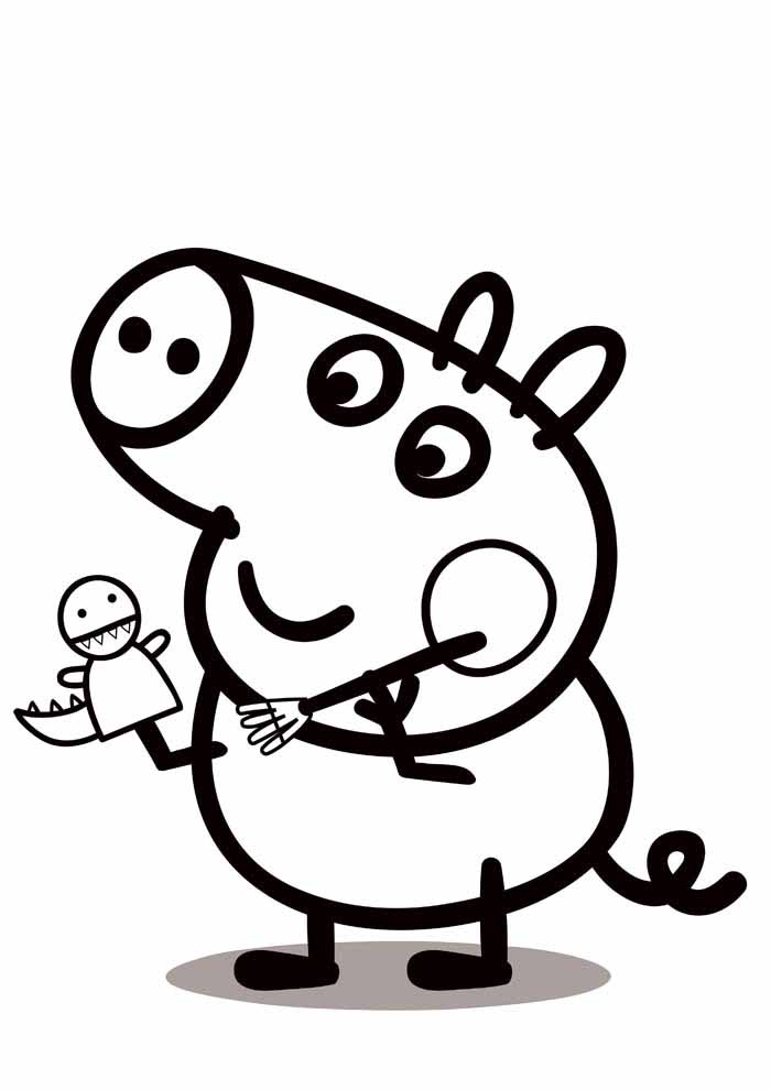peppa pig coloring page 8