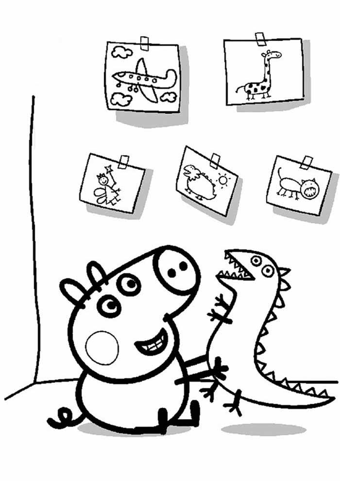 peppa pig coloring page 9