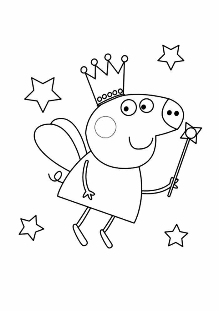 peppa pig coloring page angel